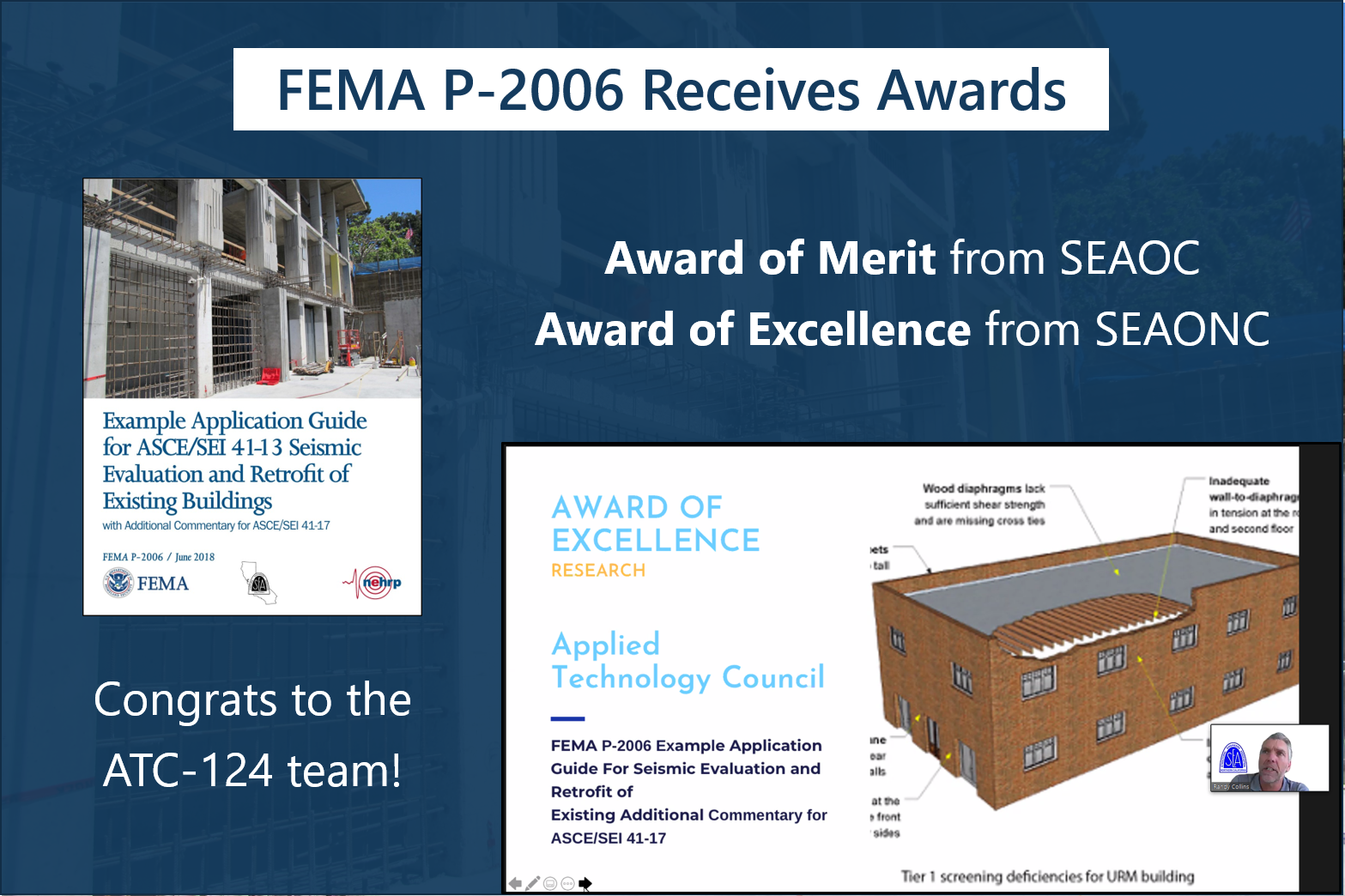 FEMA P-2006 Receives Awards